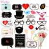 FENGRISE Mr Mrs Photo Booth Props Just Married Bride Groom Photobooth Wedding Event Bridal Shower Party Decoration Supplies