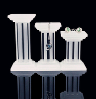 Acrylic Rome Column Ring, Earrings , Necklace Frosted Acrylic Holder Jewelry Display Stand