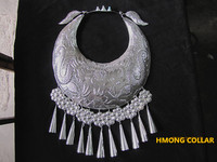 Hmong Silver collar Miao silver necklace miao dance accessory Chinese Folk Dance Hmong costumes accessoies