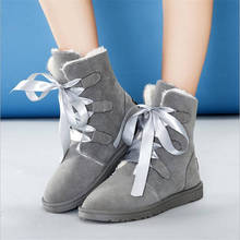 2016 Winner Woman Snow Boots New Fashion Round Toe female Ankle Boots Casual Solid Flat Woman warm comfortanle Shoes