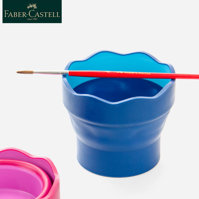 Faber Castell Wash Brush Bucket Scalable Telescopic Art Wash Pen Cup 1PCS  Folding Bucket Water Cup Sketch Painting Art Supplies