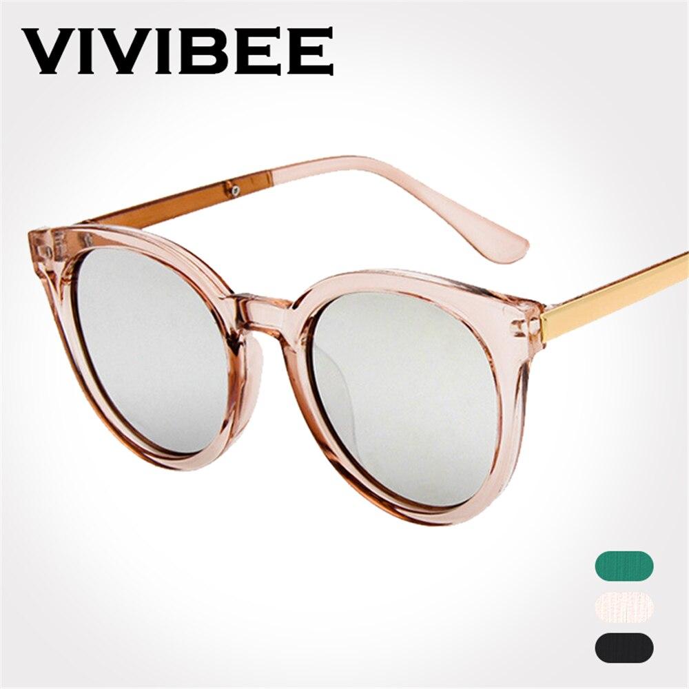 VIVIBEE Best Choose Transparent Pink Ladies Sun Glasses Oval Style Women Sunglasses Unique Brand Designer UV400 Clout Eyeglasses