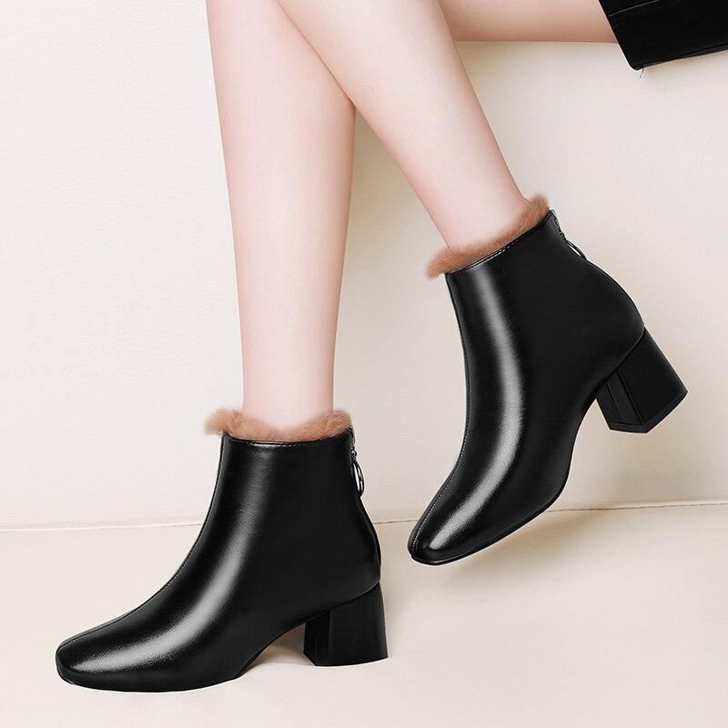 warm Schnee Stiefeletten Schoenen Qualität Plüsch Mycoron brown Warme warm Schuhe Neue winter Winter Winter Stiefel Frauen Hohe Dames Zipper Herbst AAzqU68