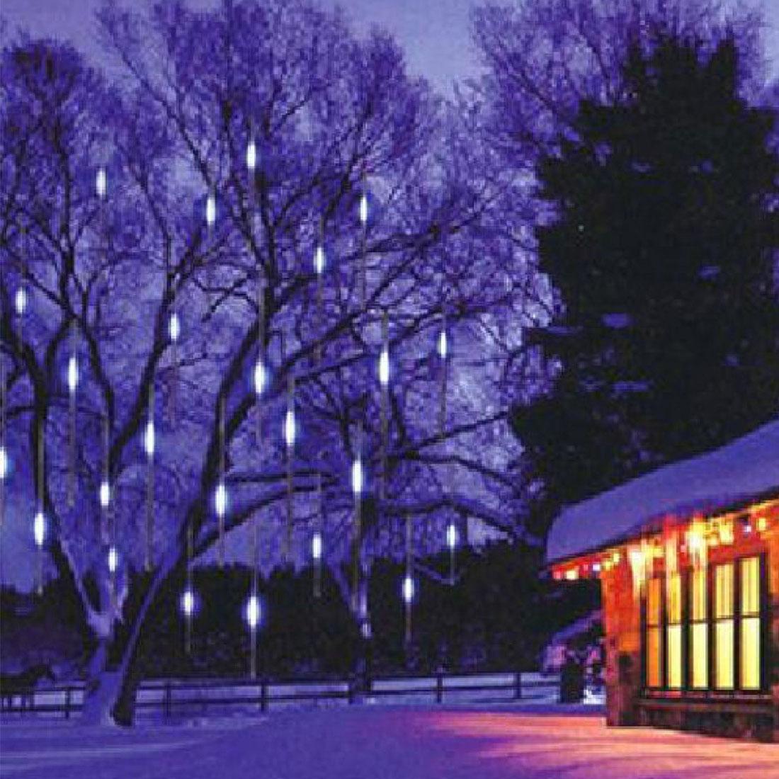 New EU/US Plug Multi-color 30CM Meteor Shower Rain Tubes LED Christmas Lights Wedding Garden Xmas String Light Outdoor
