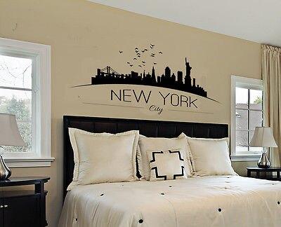 New York Skyline Wandaufkleber Schlafzimmer Lounge Wandkunst - Wohnkultur - Foto 3