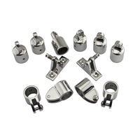 3 Bow Bimini Top Boat Stainless Steel Fittings Marine Hardware Set 12 piece set of SS316 7/8(22mm) 1(25mm)