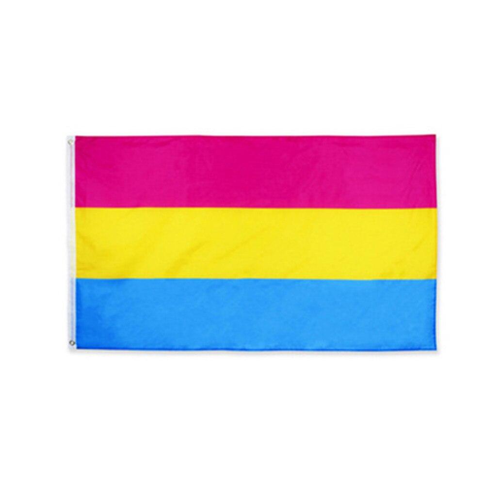 Pansexual Omnisexual LGBT 5x3 Flag 150cm x 90cm