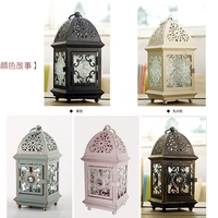 Soft time Moroccan retro Iron candle holder wedding living room decoration creative candlelight dinner decoration WL5171435