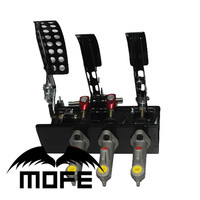 MOFE Mofe 0.75 Master Cylinder Racing Car Brake Pedal Box Kit Hydraulic Pedals Box Clutch Brake Bias Floor Mounted