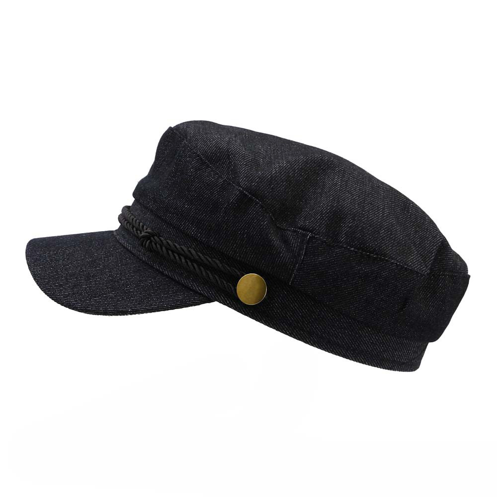Autumn Washed Black Beret Hat Visor for Lady Women Army Cap Flat Hats Fashion Casual Snapback Military Hats for Female Girls