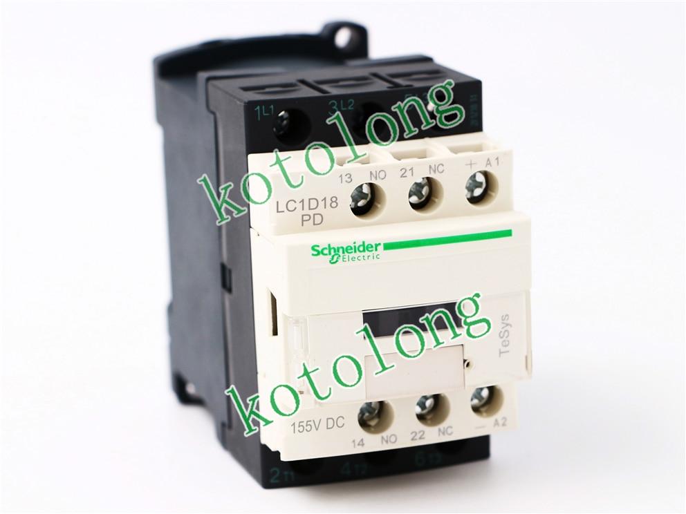 DC Contactor LC1D18 LC1D18PD LC1-D18PD 155VDC LC1D18QD LC1-D18QD 174VDC LC1D18SD LC1-D18SD 72VDC LC1D18UD LC1-D18UD 250VDC new lp2k series contactor lp2k06015 lp2k06015md lp2 k06015md 220v dc