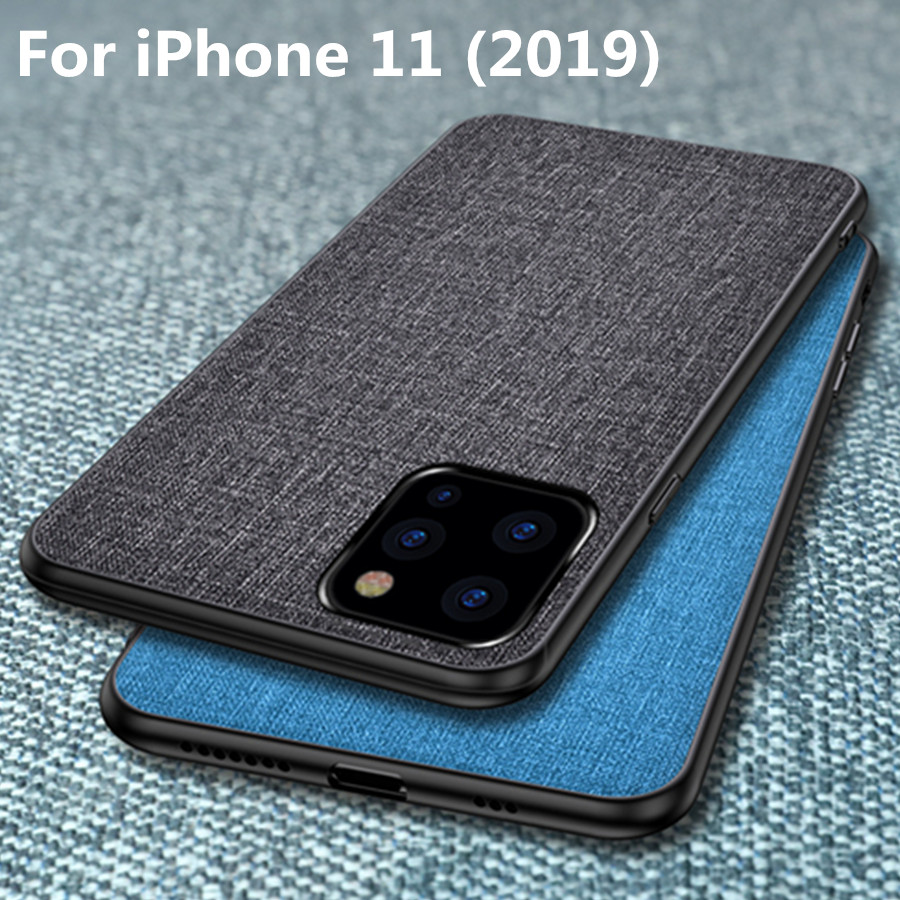 Luxury fabric Business case Coque For iPhone 11 2019 Case For iPhone 11 Pro Max Case Innrech Market.com