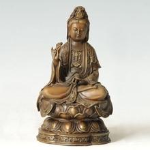 ATLIE BRONZES Bronze buddha statue Guanyin  KWAN-YIN Chinese Buddha sculpture home decor