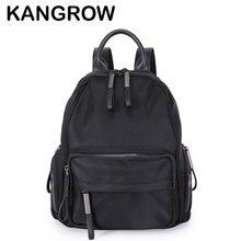 Kangrow Для женщин нейлон Рюкзаки Черный насыщенный Для женщин Повседневное Daypacks Модные женские рюкзаки