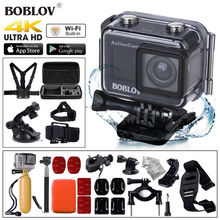 BOBLOV 1.5″ LCD 4K 1080P 12MP HDMI WiFi USB Remote Control Waterproof Sports Action Camcorder For Android Ios + 30pcs Kits