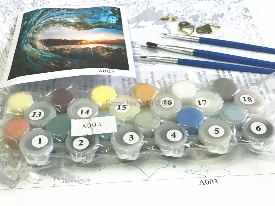 Paint By Numbers - The Snowy Mountain Oil Paint Canvas Wall Art Pictures Decor For Home Decoration