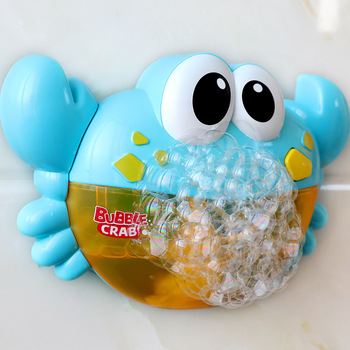 Outdoor Bubble Machine Baby Bath Toy Cute Crab Electric Automatic Maker Blower Bathtub Soap Music Toys for Child