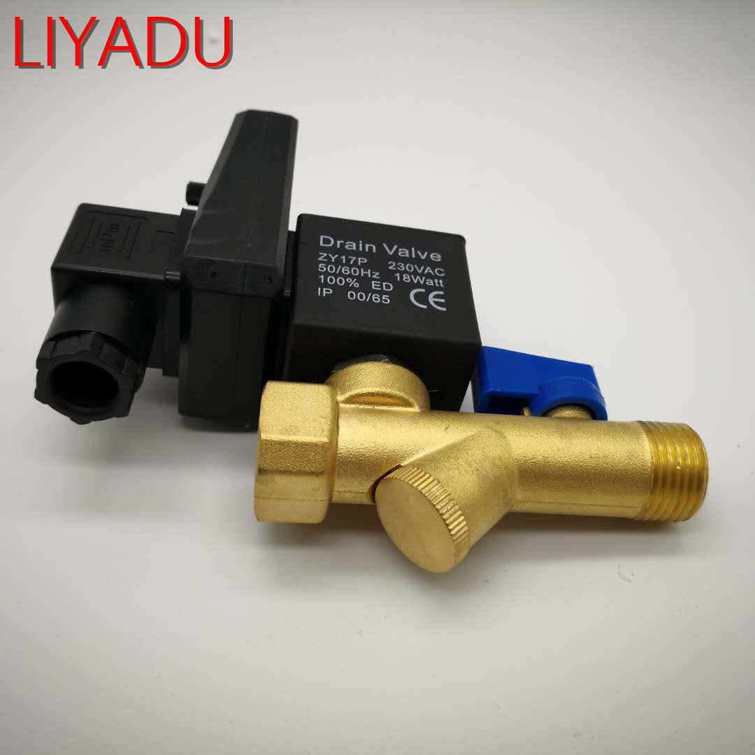 Electronic Drain Valve Air Compressor Filter Dry Air Storage Tank Cooler Dry Electromechanical Magnetic Valve Conjoined Timed