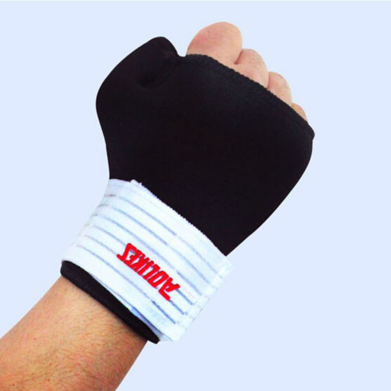 New Elastic Thumb Wrap Wrist Palm Splint Supports Sport Gloves Elastic Brace Gym 43bp