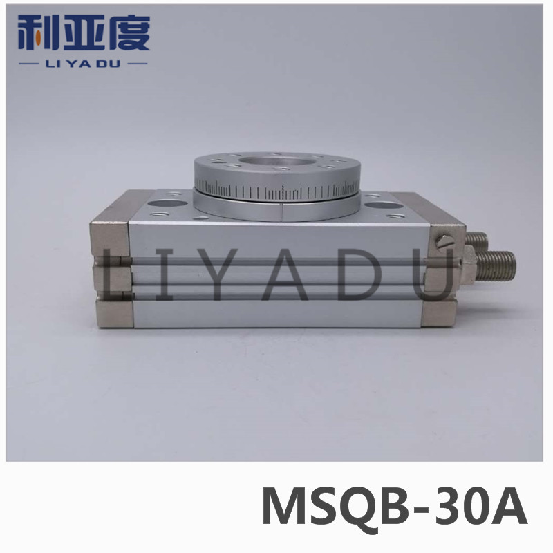 SMC type MSQB-30A rack and pinion type cylinder / rotary cylinder /oscillating cylinder, with angle adjustment screw MSQB 30A cdra1bsu50 180c smc orginal rack and pinion type oscillating cylinder rotary cylinder