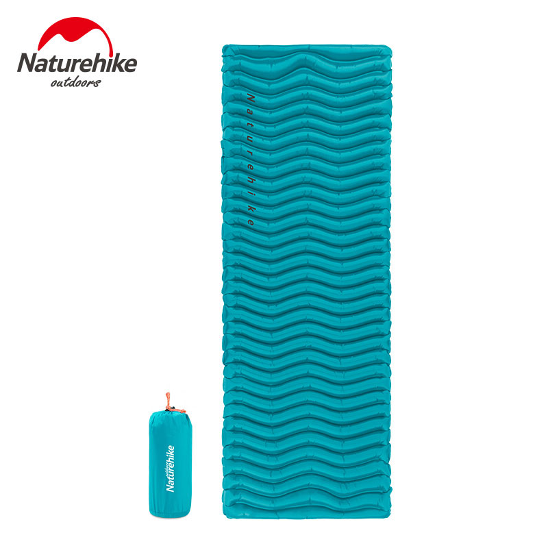 Naturehike Outdoor Ultralight Sleeping Pad Inflatable Camping Mat Outdoor air Mattress Tent Bed NH18C009-D ultralight inflatable mattress bed portable folding outdoor camping mat air mattress sleeping pad with pillow