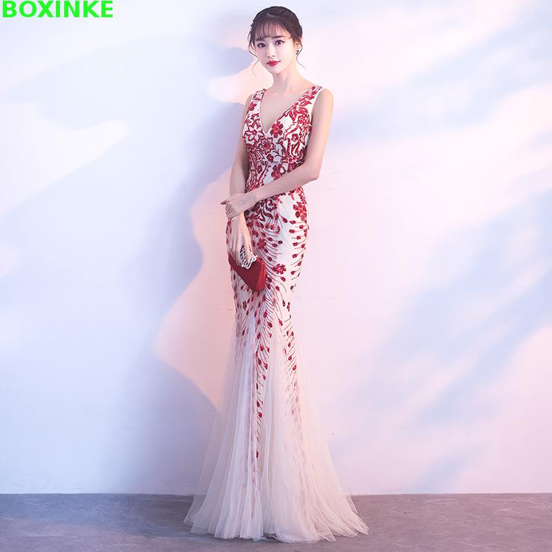 Vestido De Festa Limited Zanzea 2018 New And Summer Sexy Company Annual Meeting Host Dinner Party President Dress Up Fishtail