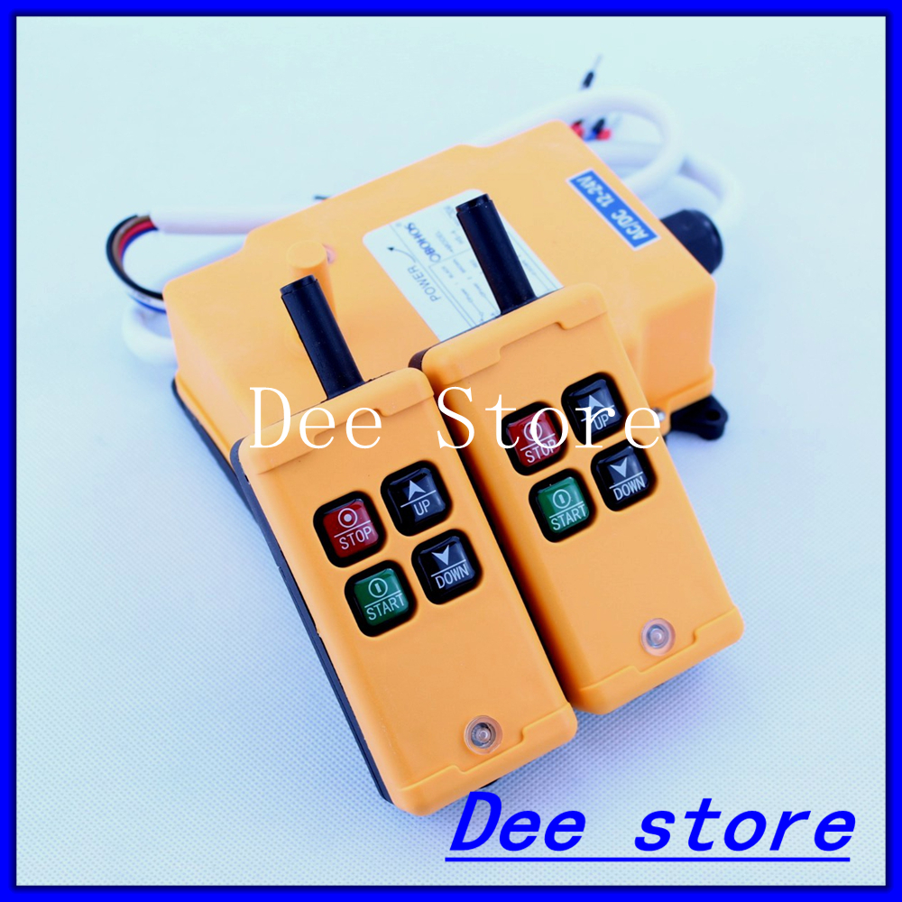 2 Tansmitters 4 Channels 1 Speed Control Hoist Crane Radio Remote Control Push Button Switch System2 Tansmitters 4 Channels 1 Speed Control Hoist Crane Radio Remote Control Push Button Switch System