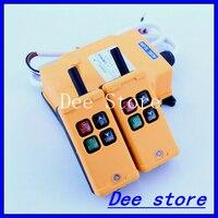 Barato 2 Tansmitters 4 canales 1 Sistema de interruptor de botón de Control remoto de grúa de