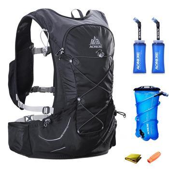 15L AONIJIE Men Women Hydration Backpack Outdoor Running Trail Racing Hiking Marathon Rucksack 2L Water Bag 2 350ML Soft Flask