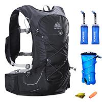 15L AONIJIE Men Women Hydration Backpack Outdoor Running Trail Racing Hiking Marathon Rucksack 2L Water Bag 2 350ML Soft Flask