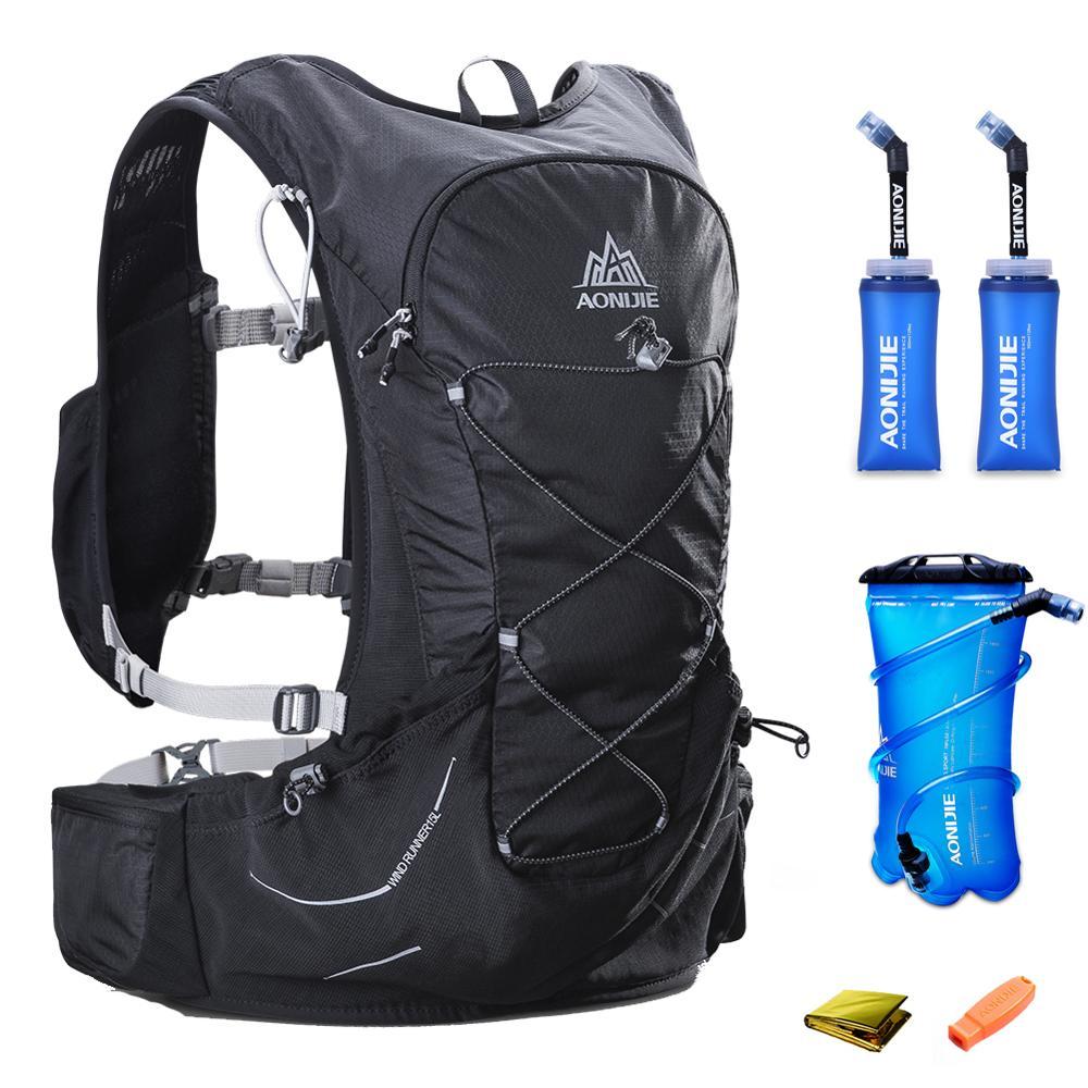 15L AONIJIE hommes femmes sac à dos d'hydratation en plein air course Trail course randonnée Marathon sac à dos 2L sac à eau 2 350 ML flacon souple