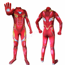 The Avengers Iron Man Costume Men Adult Superhero Jumpsuit Party Clothes Halloween Costumes For Kids