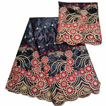 Hot sales High quality Latest2018African Bazin Riche With stones net lace Scarf fabric for Nigerian Party Dresses GZ895 coffee