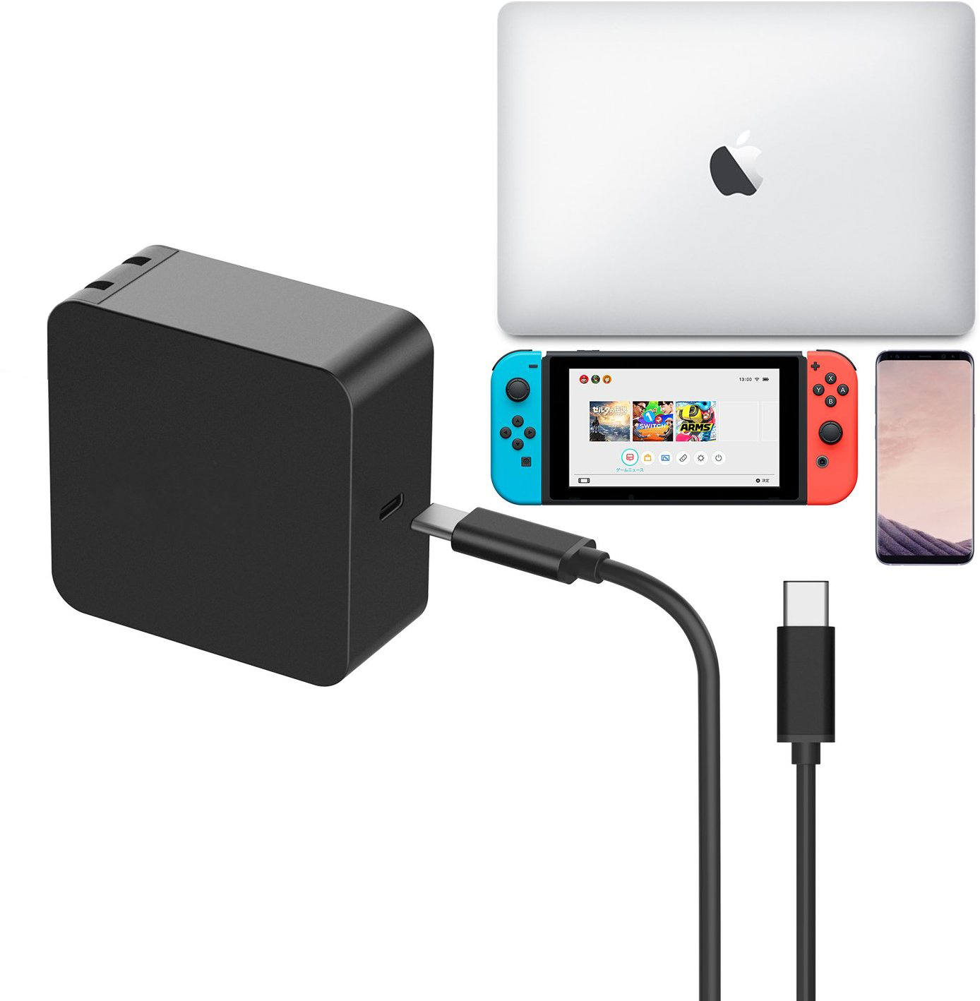 Helper Power Adapter for Macbook touchbar XPS XiaoMi Razer Blade Stealth nintendo switch USB Type C Wall Charger Fast Charging usb type c pd wall charger fast charging power adapter for new macbook pro dell 9350 acer r13 samsung asus hp