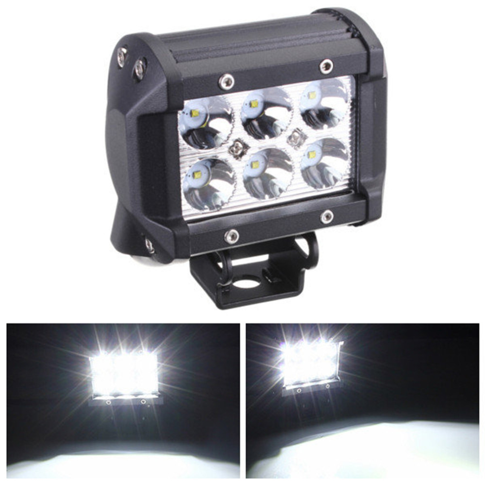 4 inch 18W LED Work Light Lamp for Motorcycle Tractor Boat Off Road 4WD 4x4 Truck SUV ATV Spot Flood 12v 24v ledtech 20w cree led work light 12v 24v 1700 lumen spot flood lamp for truck suv boat 4x4 4wd atv