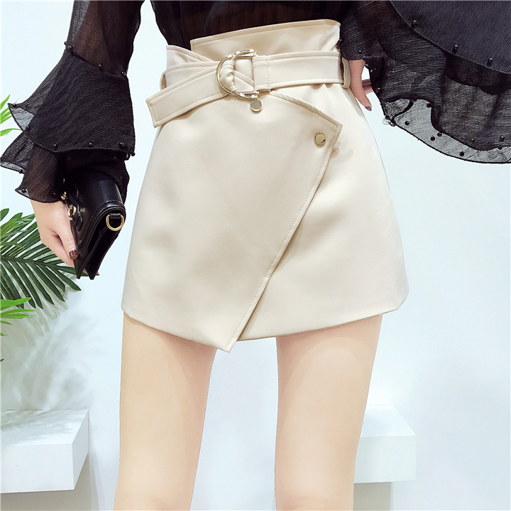 Asymmetric wrap mini skirts for women summer A-line slim short skirts ladies girls fashion casual irregular skirt 902