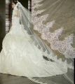 New 3 Meter White Ivory Wedding Veils Long Lace Edge Bridal Veil with Comb Wedding Accessories