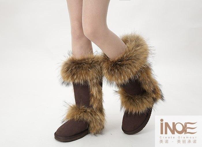 as mulheres sapatos de inverno com pele