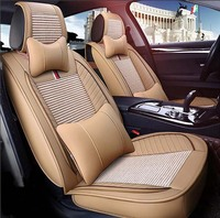Auto Car Seat Cover Full Sets Universal Fit 5 Seat SUV Sedans Front Back Seat Mats