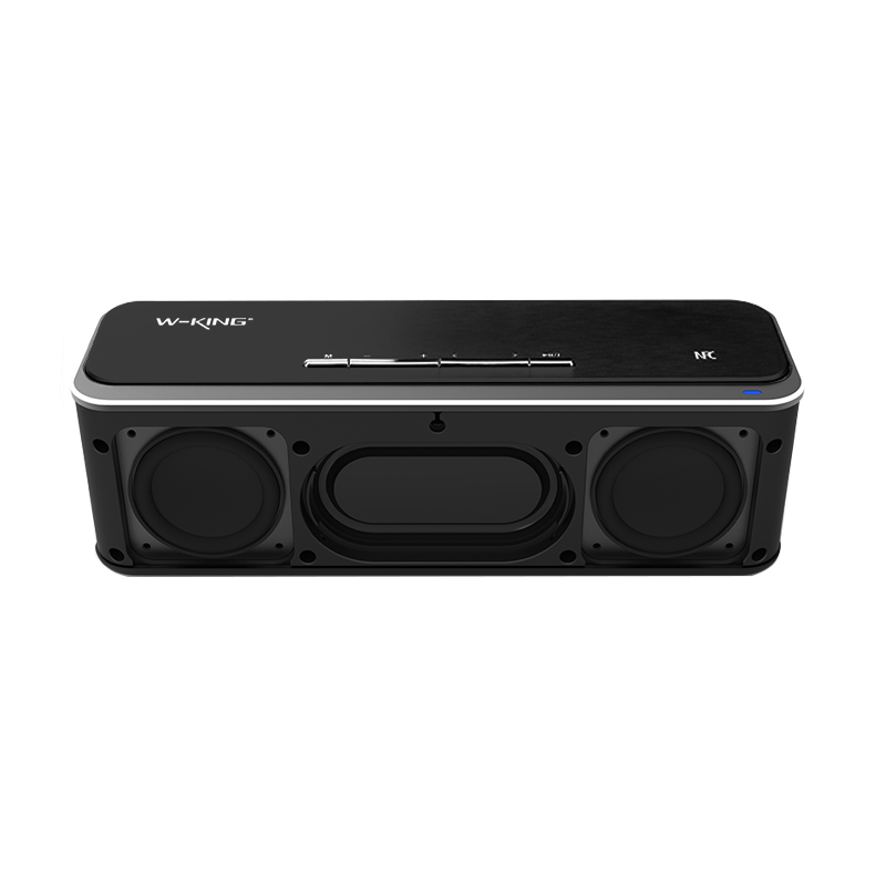 Supper Bass Bluetooth Speaker Dual Driver Portable Aluminum Alloy button Surface Brushed Treatment Top Sound DSP APP Speaker
