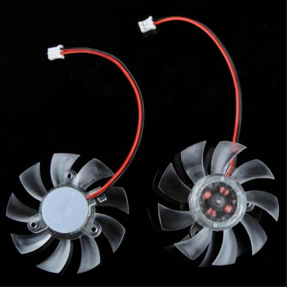 Ycdc VGA Kipas Pendingin 55 Mm 2Pin PC VGA Grafis Video Kartu Heatsink Cooler Pendingin Pengganti Fan 12V