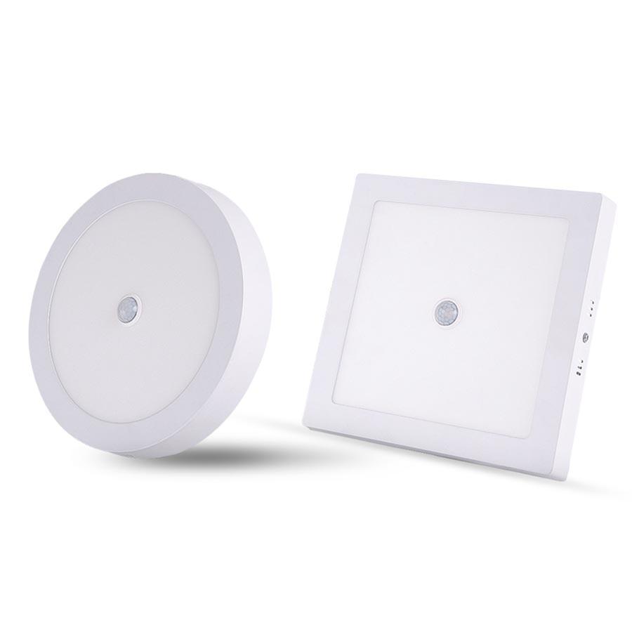 PIR Motion Sensor LED Ceiling Light 6W 12W 18W 24W Modern LED Ceiling Lamp Surface Mount Lighting For Corridor Stairs Basement
