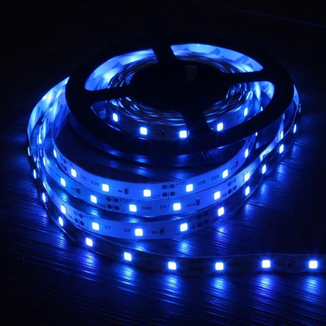 Светодиодная лента 2835 RGB, 5 м, 300 светодиодов, 12 В постоянного тока, красный, зеленый, синий, теплый белый, холодный белый, гибкая SMD 2835, светодиодная Диодная лента, лента, лампа