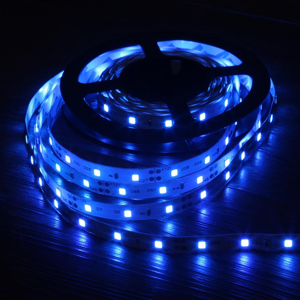 Tira de luz de led rgb, 5m 2835 leds dc 12v vermelho verde azul quente branco frio flexível smd 2835 lâmpada de fita de diodo led