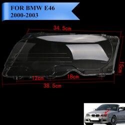 Po lewej stronie soczewki reflektorów pokrywa montażowe dla BMW E46 M3 323ci 325ci 328ci 330ci 2000 2003 plastikowe przezroczyste Protector # PDK640 L w Osłony lamp od Samochody i motocykle na