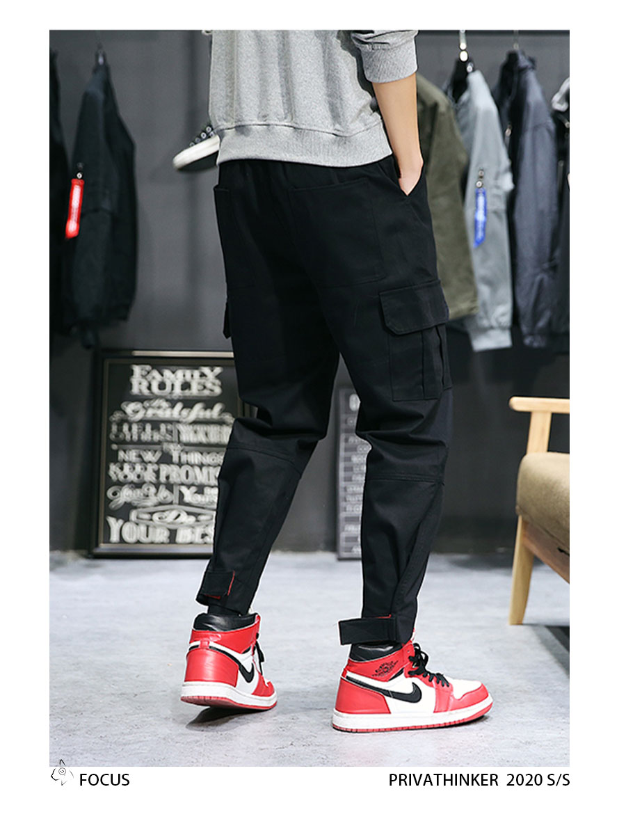 Privathinker Cargo Pants Men 2020 Mens Streetwear Joogers Pants Black Sweatpant Male Hiphop Autumn Pockets Trousers Overalls 57