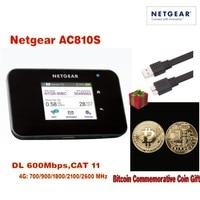 600 mbps 4g sbloccato netger AC810S cat11 4g 3g mifi router 4g wifi dongle Wireless lte Carta D'aria 810 S 4G mifi con trasporto regalo