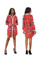 Wholesale 3XL Oversize Women Sexy Dashiki Dress Summer Print Vestidos African Dress For Women Traditional Clothing Bazin Riche