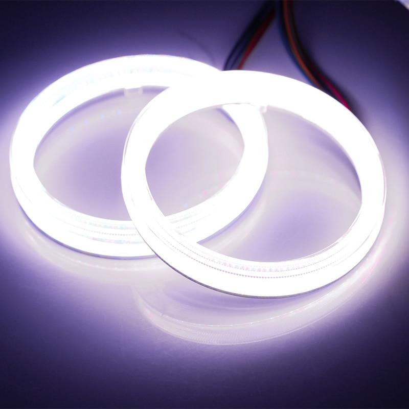 RGB LED Angel Eyes Headlights New Multi Color 6cm RGB COB