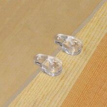 100 шт пластиковое стекло фиксатор прозрачное зеркало шкаф фиксации зажимы QJ888